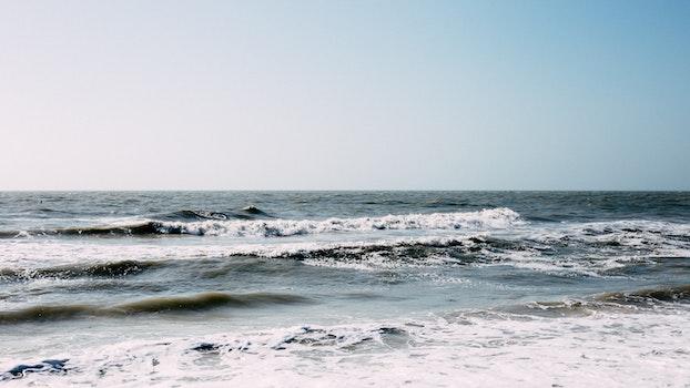 Free stock photo of sea, nature, sky, beach