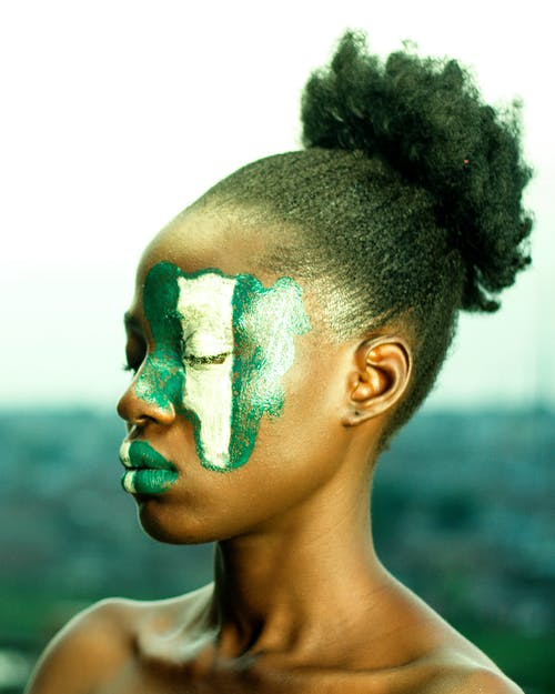 Photo of Woman with  Painted Face