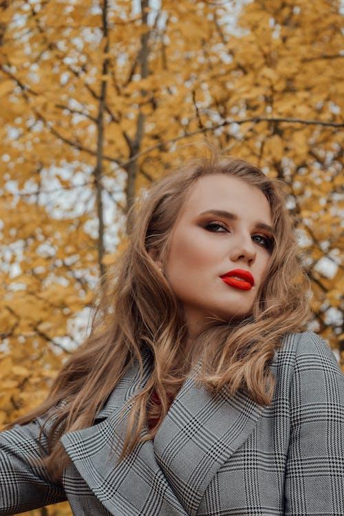 Photo Of Woman Wearing Red Lipstick