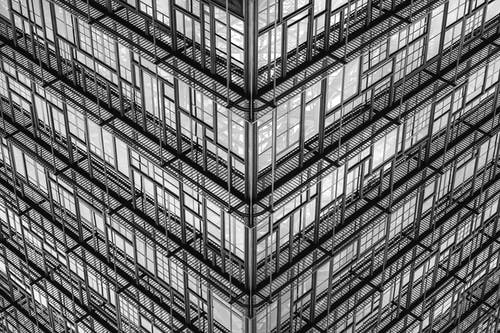 Glass Walled Building