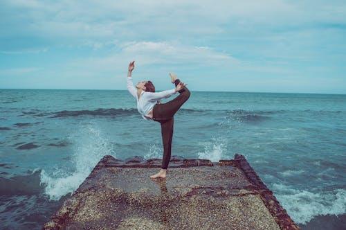 Foto stok gratis balerina, balet, keseimbangan, laut