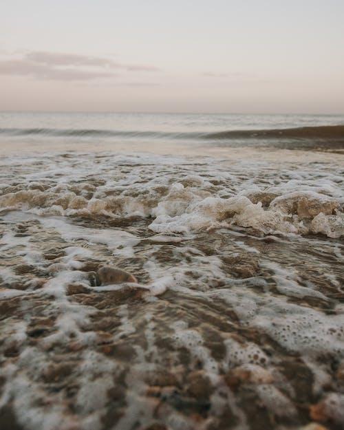 Close-Up Photo of Sea Foam