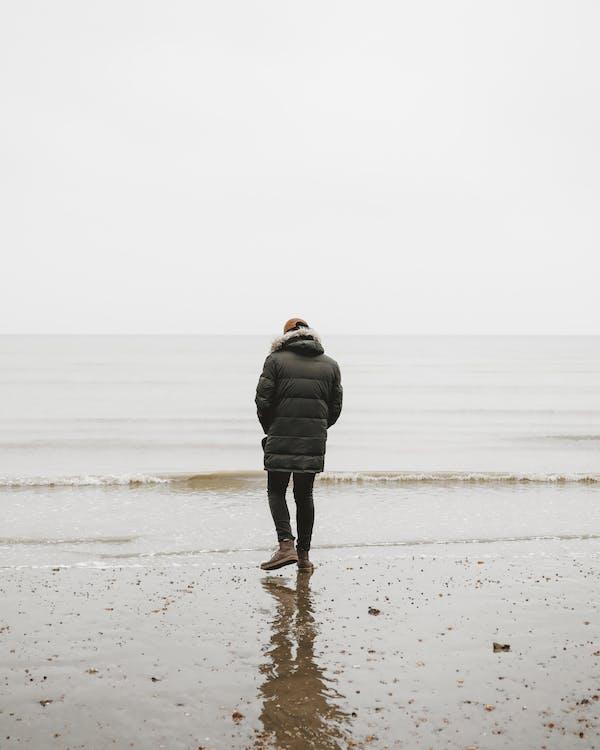 chladný, more, morský breh