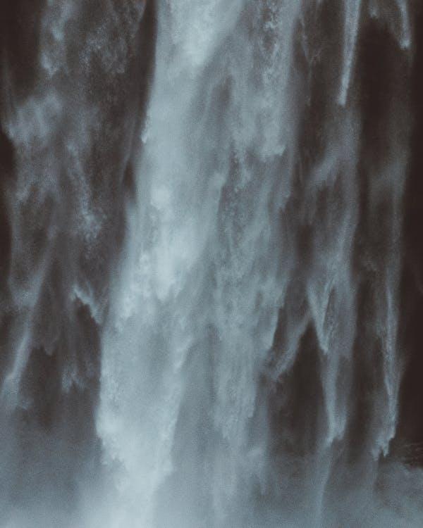 mlha, voda, vodopád