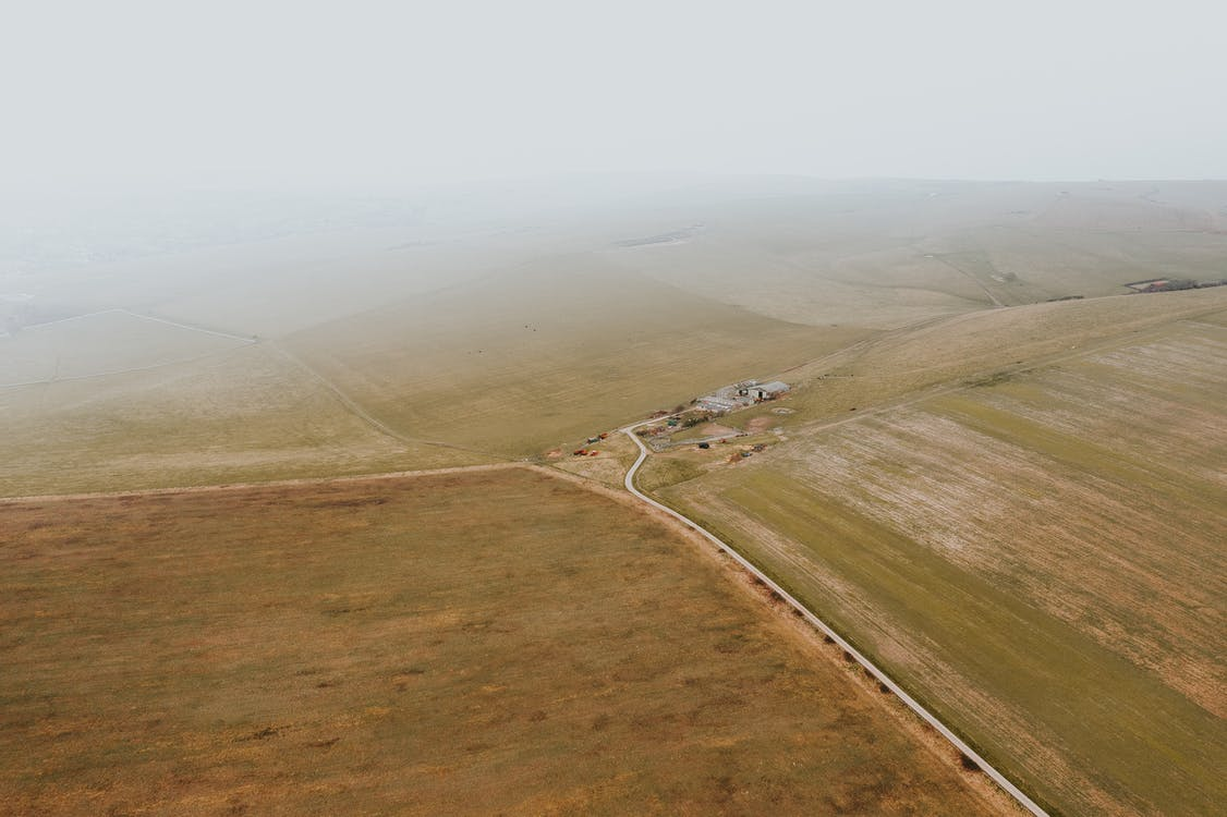 Aerial Photography of Open Field