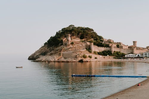A Village Fortress In A Rocky Island