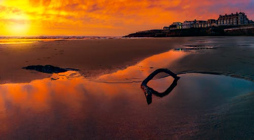 剪影, 反射, 日出, 日落 的 免費圖庫相片