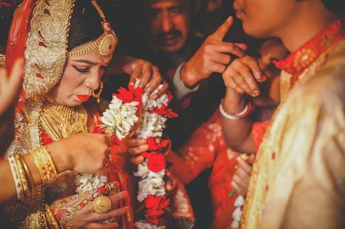 Kostenloses Stock Foto zu abwarten, hinduismus, hochzeit