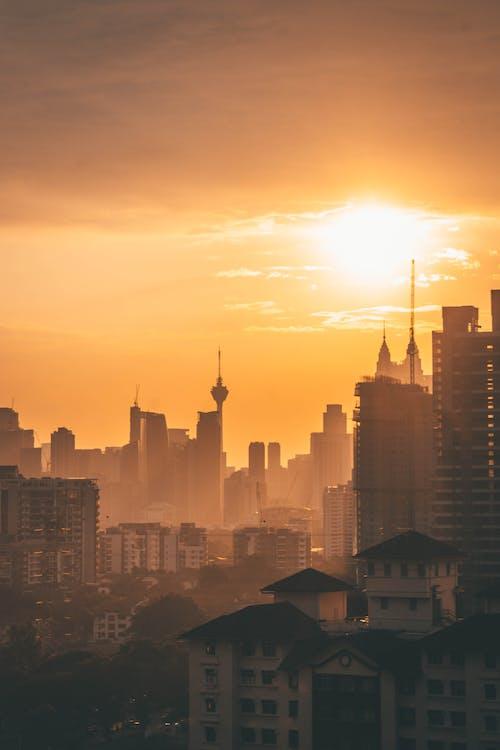 亞洲, 剪影, 吉隆坡, 城市 的 免费素材照片