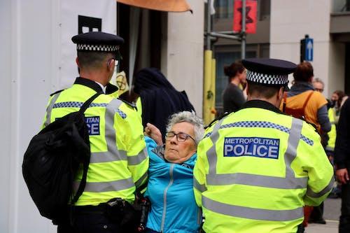 Free stock photo of extinction rebellion, police