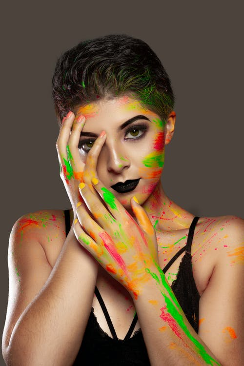 Free stock photo of beauty, beauty model, body art