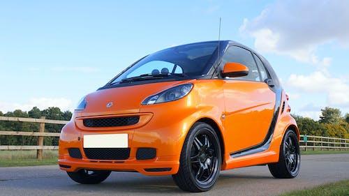 smart雙人座汽車, 橙子, 自動 的 免费素材照片
