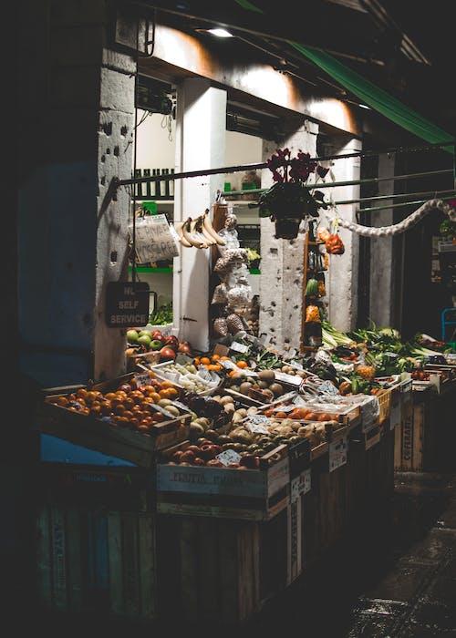 Ảnh lưu trữ miễn phí về buồn rầu, chợ hoa quả, cửa tiệm, đêm