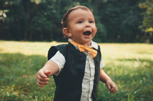 Little Boy with Yellow Bow Tie