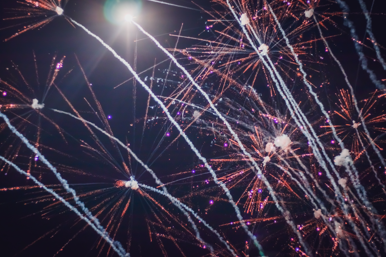 Lighted Fireworks