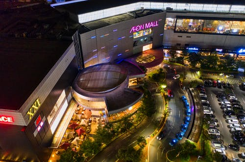 Aerial Photography of Aeon Mall