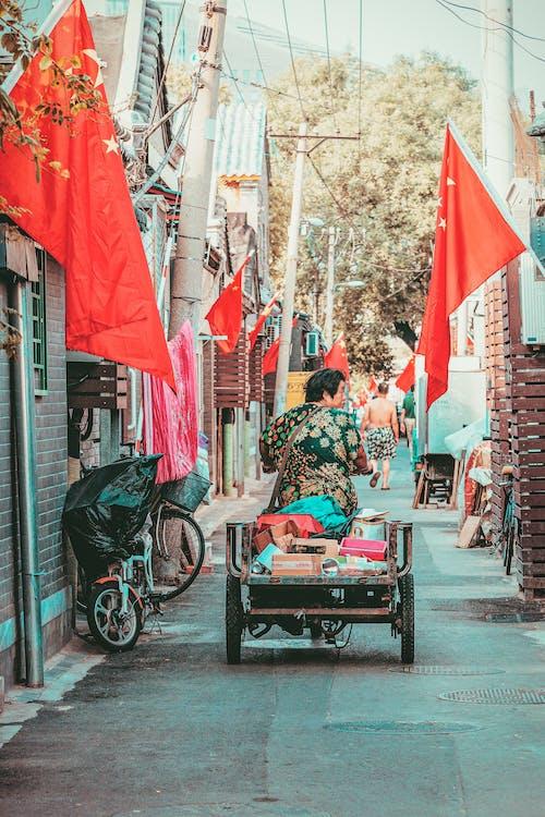 Imagine de stoc gratuită din alee, bărbat asiatic, călătorie, caldarâm