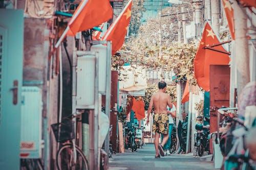 亞洲人, 人, 半裸, 城市 的 免費圖庫相片