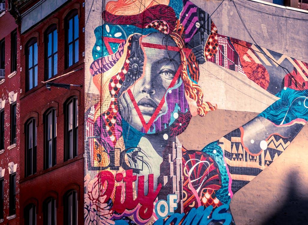 архітектура, графіті, дивовижний