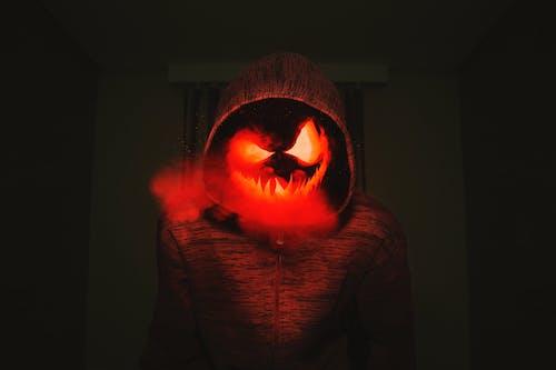 Fotos de stock gratuitas de abrigo rojo, Arte, asustadizo, calabaza