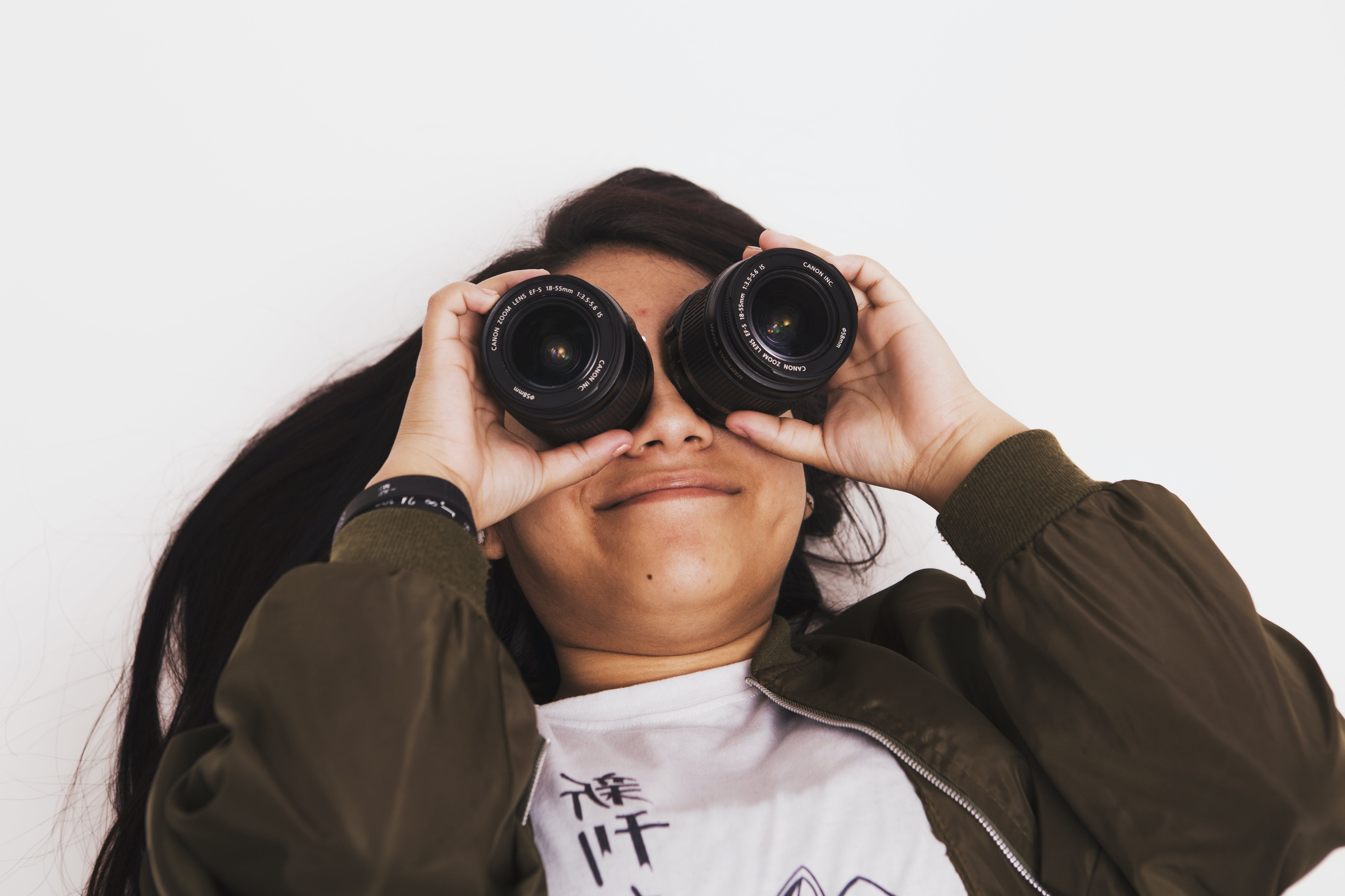 Free stock photo of eyes, face, girl, lens