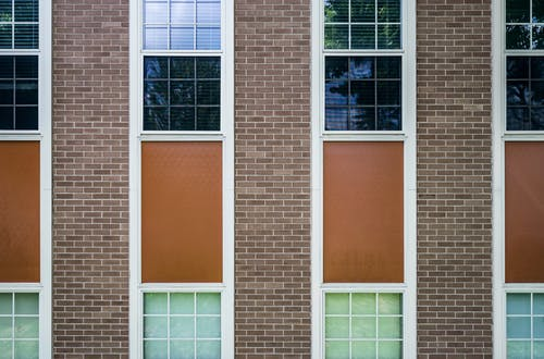 Building Windows With White Wooden Frames