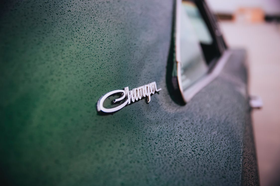 Close-Up Photo of Dodge Charger Logo