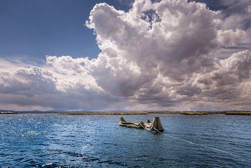 cloudscape, ウォータークラフト, カヌー, のどかの無料の写真素材