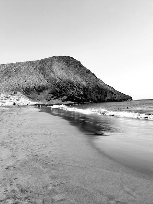 Monochrome Photo Of Seashore