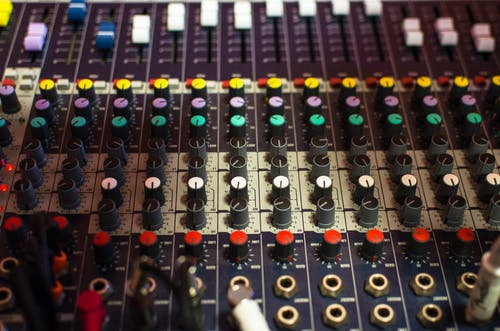 Multicolored Mixing Console
