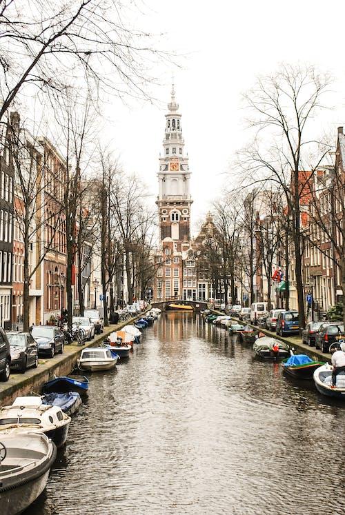 Gratis arkivbilde med amsterdam, båt, Nederland, tårn