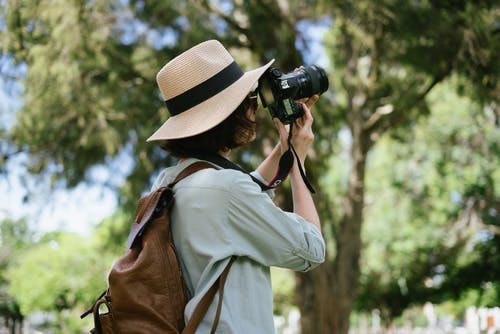 Photo of Person Using Digital Camera