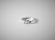 white, letter, ring