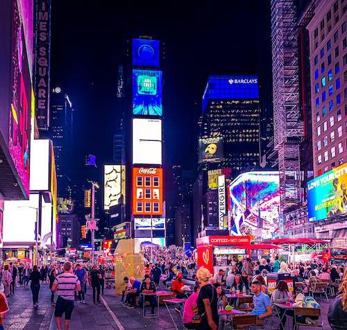 Gratis arkivbilde med by natt, gatefotografi, manhattan, new york city