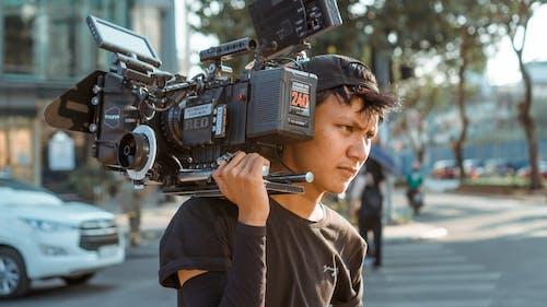 Imagine de stoc gratuită din acțiune, aparat de fotografiat, aparatul de fotografiat, cameră video