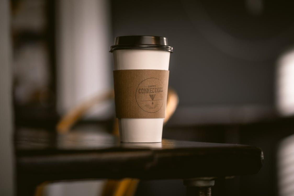 beker, café, depth of field