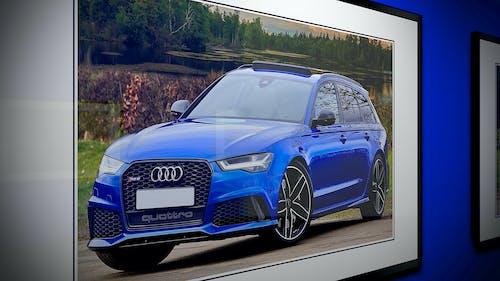 Immagine gratuita di audi rs6, auto, auto sportiva, azzurro