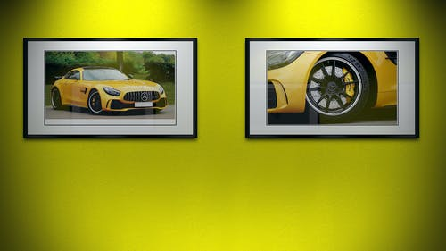 Immagine gratuita di amg, giallo, gtr, macchina