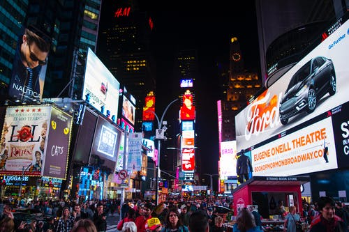 Free stock photo of new york, times-square