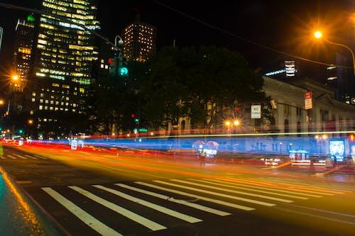 Free stock photo of new york, night