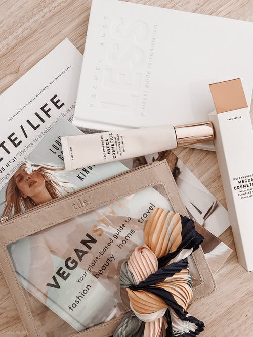 Papers and Cosmetic Tube