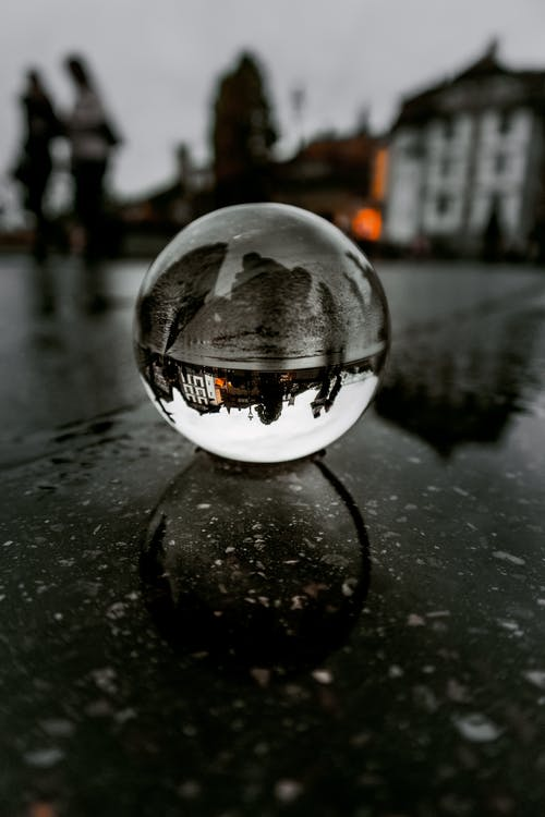 Close-Up Photo of Lensball
