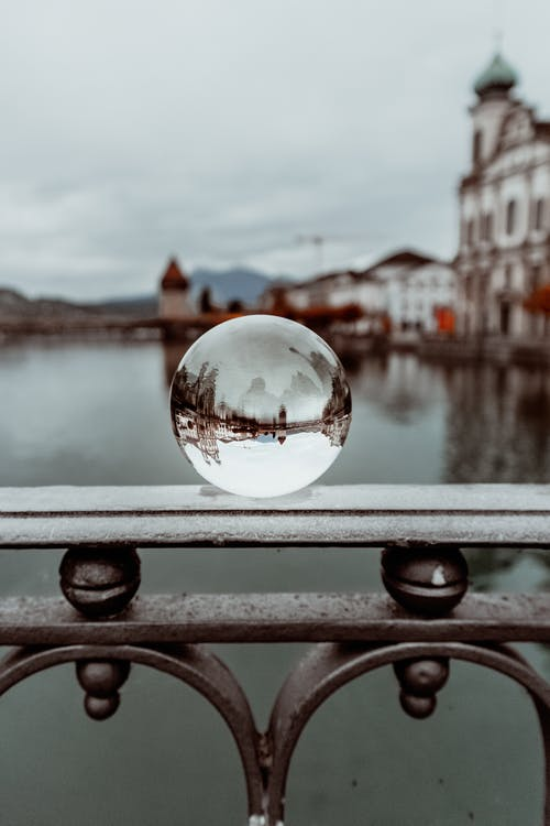 Photo of Lensball on Railing