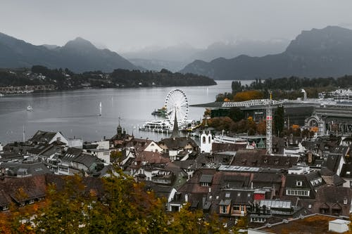 Gratis stockfoto met architectuur, attractie, bergen, bird's eye view