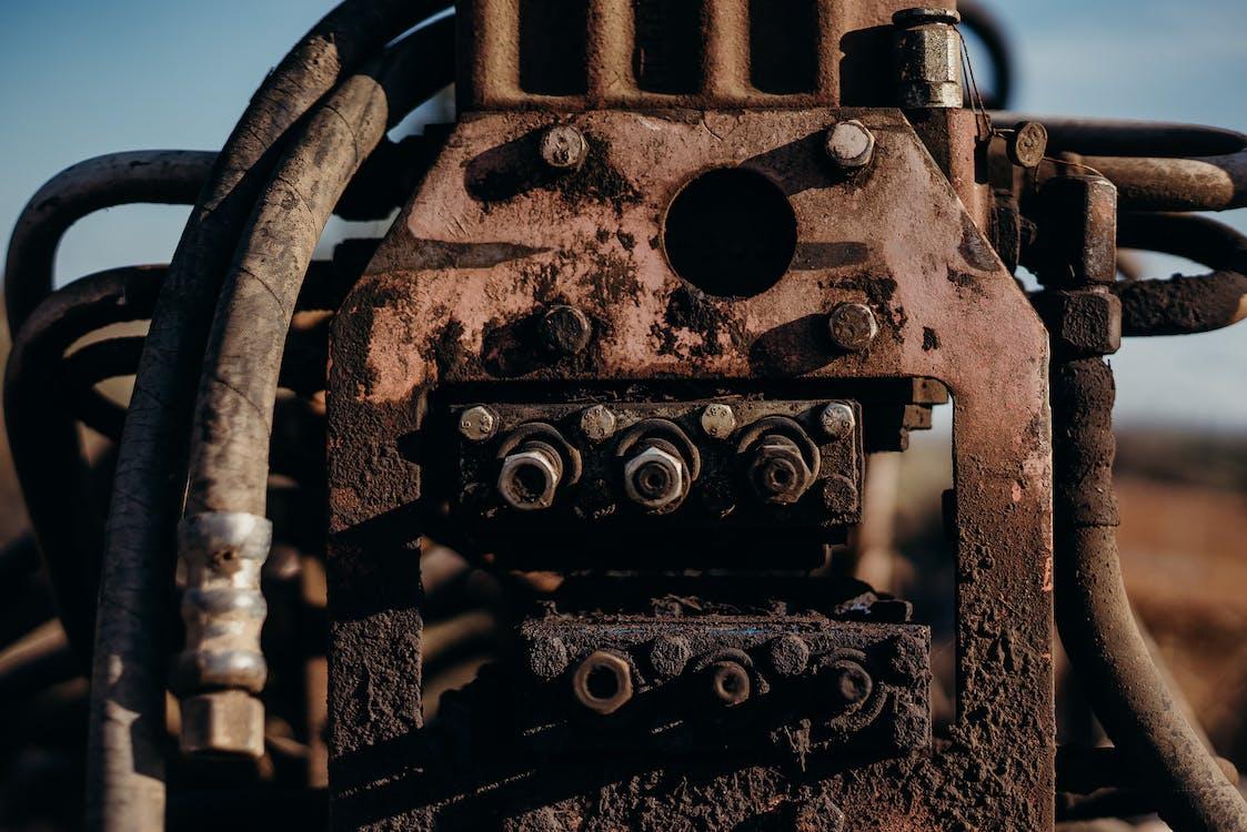 грязный, двигатель, железо