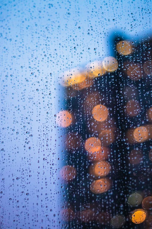 Free stock photo of bokeh, city, city lights, rain