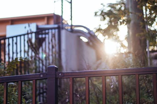 Free stock photo of golden hour, light, railing, train