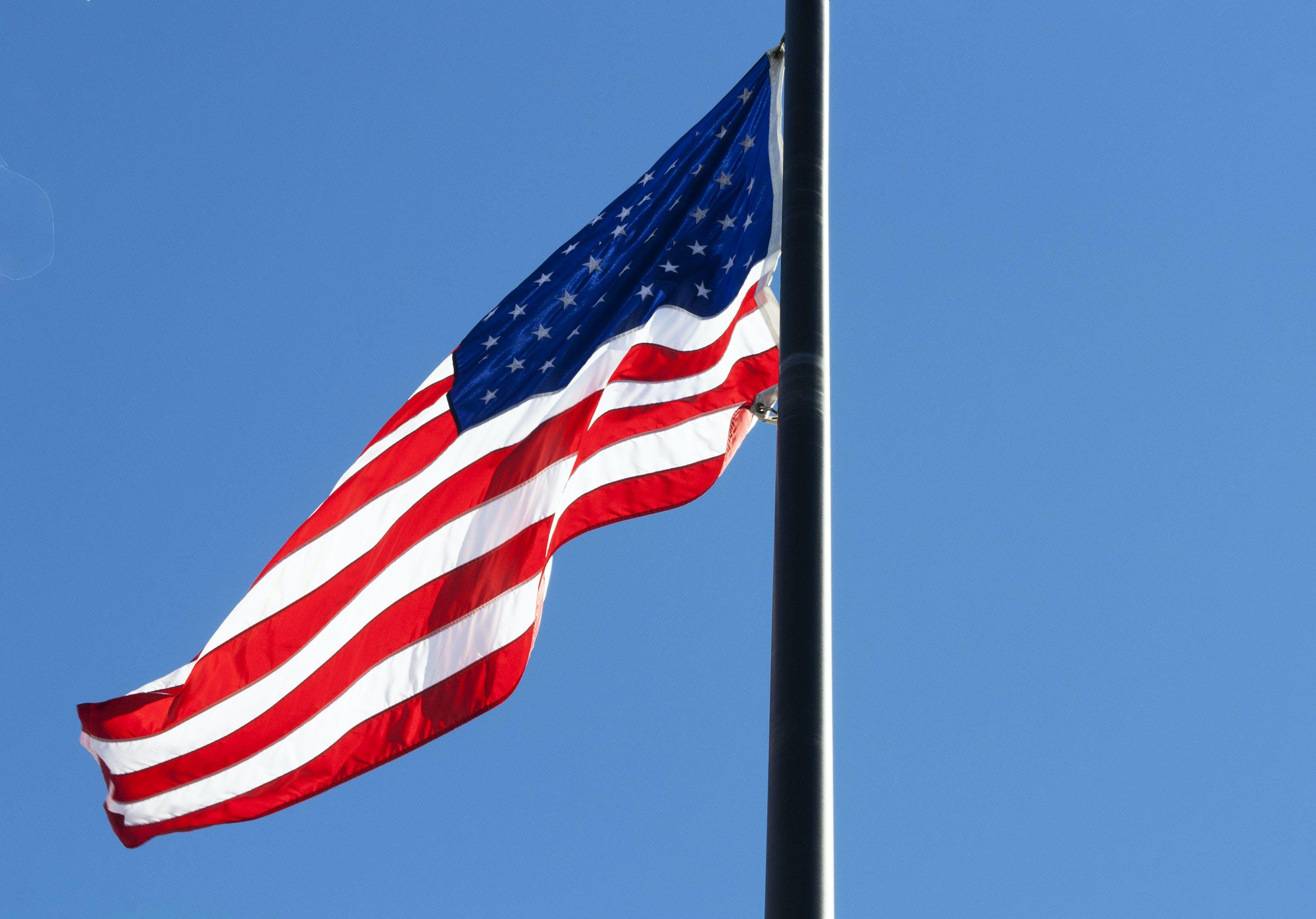 Kostenloses Stock Foto zu amerika, amerikanische flagge, banner, blau