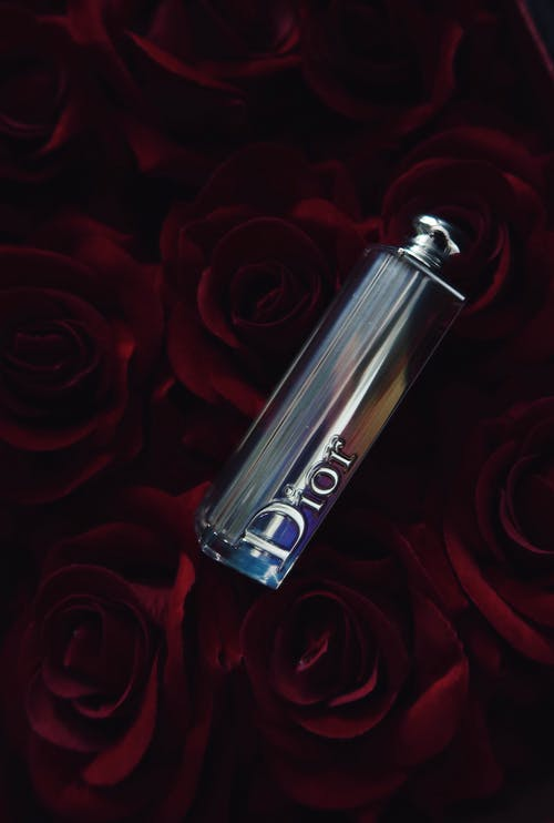 Gray Dior Bottle Close-up Photography