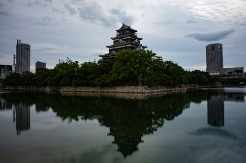 Free stock photo of castles in japan, cities in japan, cityscape japan, Hiroshima
